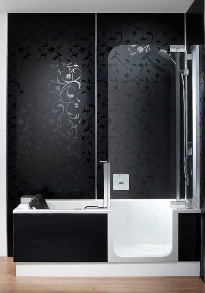 Duschbadewanne artlift mit artwall badsanierung m nchen for Gunstige badsanierung